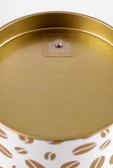 Картонная банка с клапаном дегазации для упаковки обжаренного кофе