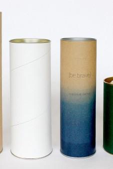 Крафт-тубус, тубус с белой навивкой, тубус крафт этикеткой, тубус с дизайнерской бумагой