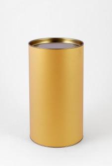 Подарочный тубус. Этикетка: дизайнерская бумага Majestic сияние золота.