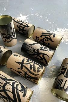 Тубус расписанный вручную каллиграфом Покрасом Лампас