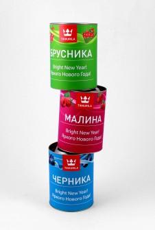 Подарочные тубусы для TIKKURILA. Этикетка: мелованная бумага + матовая ламинация.