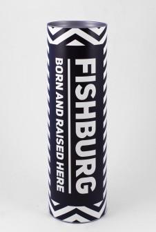 """Тубусы для футболок """"FISHBURG"""". Этикетка: цифровая печать на матовой бумаге."""
