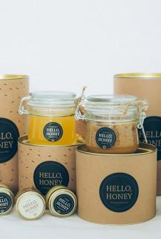 Упаковка для мёда — картонный тубус с крафт этикеткой. Офсетная печать.