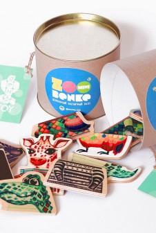 Упаковка для игрушек. Локальная наклейка (мини вырубка, полноцветная печать).