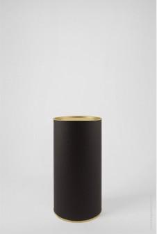 Черный картонный тубус 92×160 мм