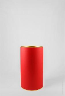 Красный картонный тубус 120×220 мм