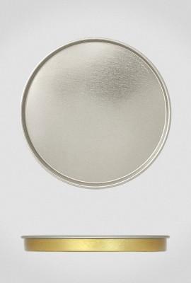 Крышка для тубуса Ø120 серебро, плоская