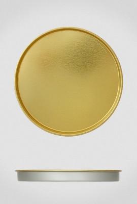 Крышка для тубуса Ø120 золото, плоская