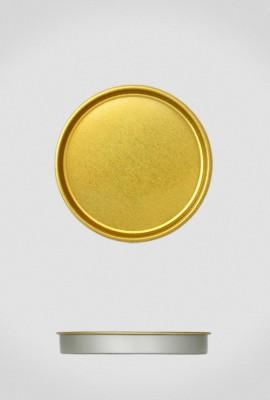 Крышка для тубуса Ø63 золото, плоская