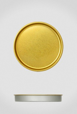 Крышка для тубуса Ø73 золото, плоская