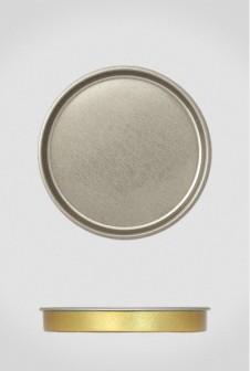 Крышка для тубуса Ø80 серебро, плоская