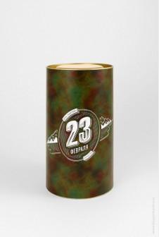 Подарочный тубус 23 февраля, 92×160 мм