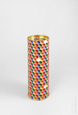 Тубус для подарка «Шестигранники»